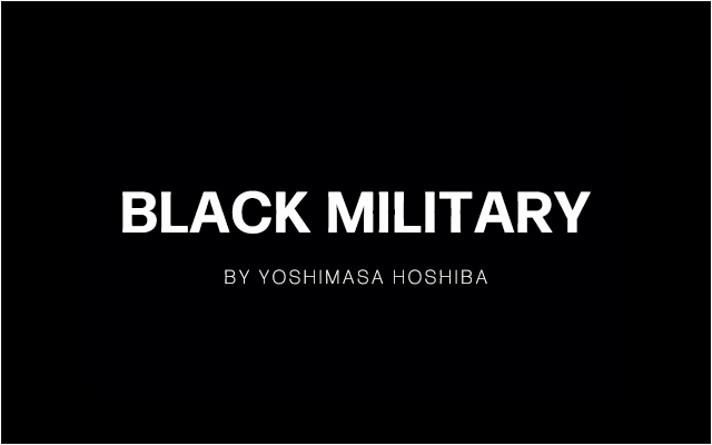 BLACK MILITARY COLLECTION